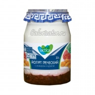 Йогурт Lactica греческий двухслойный с инжиром и курагой 3%