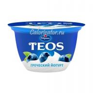 Йогурт Савушкин TEOS греческий Черника 2%