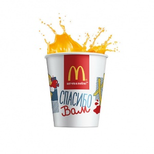 Напиток Апельсиновый сок McDonalds 400 мл