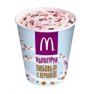Десерт Макфлурри Де Люкс клубнично-шоколадный