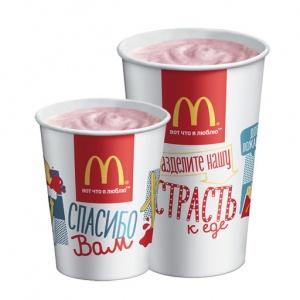 Коктейль клубничный McDonalds 400 мл