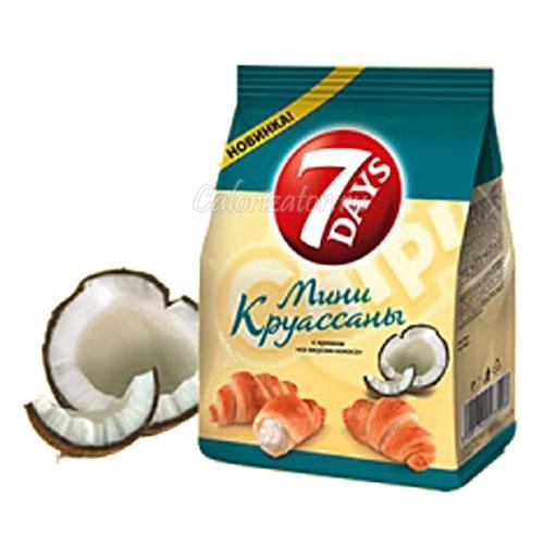 Мини круассаны 7 Days с кокосовым кремом