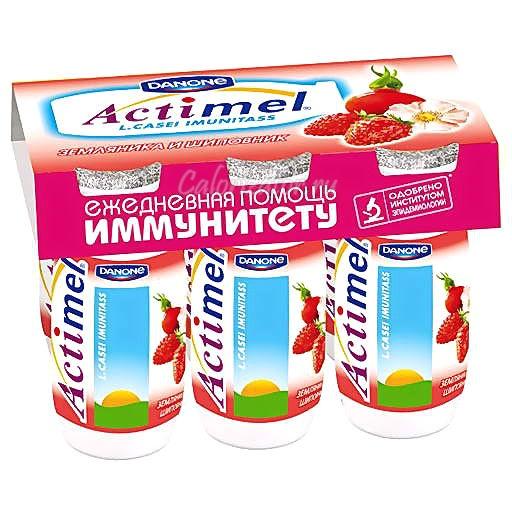 Actimel Земляника и шиповник