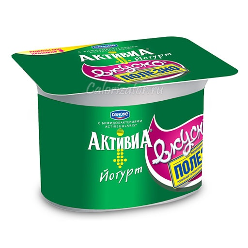 Йогурт Активиa Натуральный - калорийность, полезные свойства, польза и вред, описание.