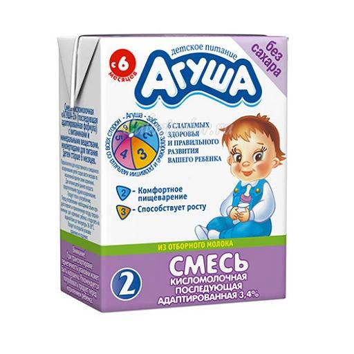 Смесь Агуша-2 кисломолочная последующая адаптированная жидкая
