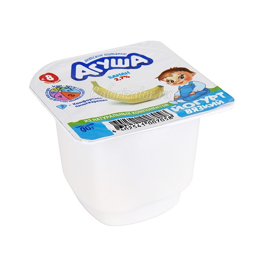 Йогурт Агуша вязкий с бананом 2.7%