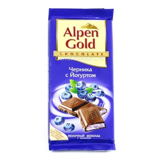 Шоколад Alpen Gold Черника с Йогуртом