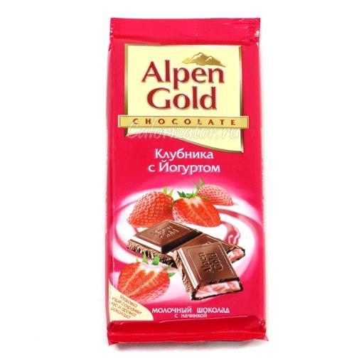 Шоколад Alpen Gold Клубника с Йогуртом