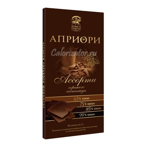 Шоколад Априори Ассорти горького шоколада