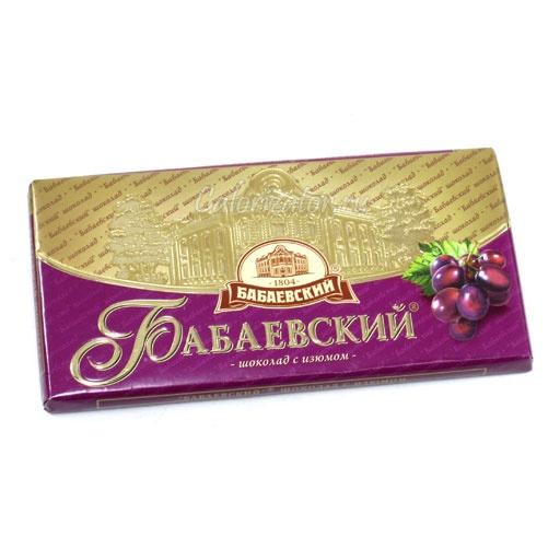 Шоколад Бабаевский с изюмом