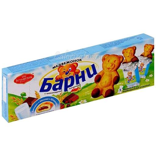 Пирожное Медвежонок Барни с шоколадной начинкой