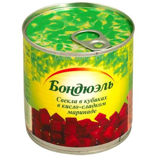 Свекла Бондюэль в кубиках в кисло-сладком маринаде