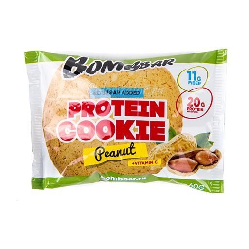 Печенье Bombbar протеиновое арахис