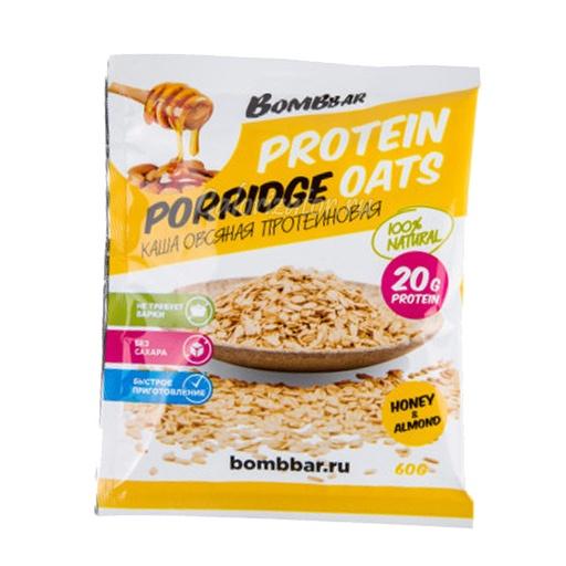 Каша овсяная Bombbar протеиновая мёд-миндаль - калорийность, полезные свойства, польза и вред, описание.