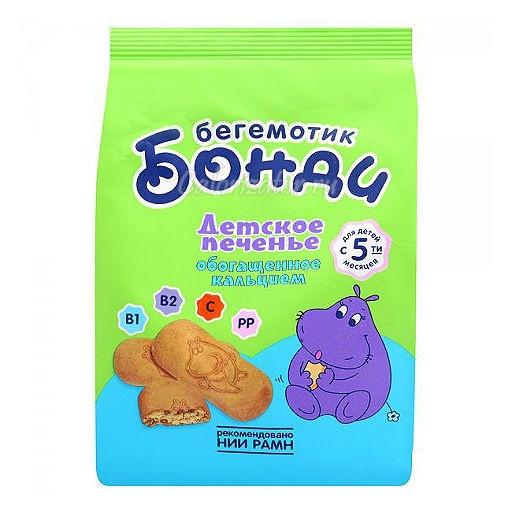 Печенье детское бегемотик Бонди с кальцием