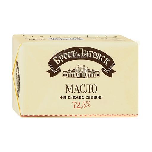Масло сливочное Брест-Литовск несолёное 72.5%