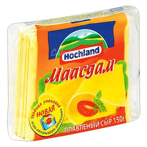 Сыр Hochland плавленый Маасдам ломтики
