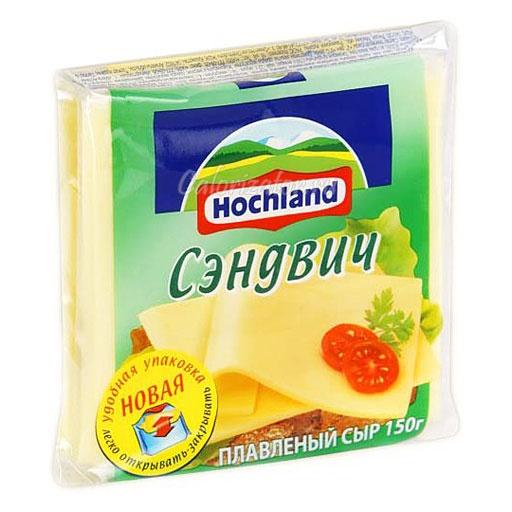 Сыр Hochland плавленый Сэндвич ломтики