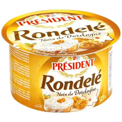 Сыр President Rondele творожный с орехами