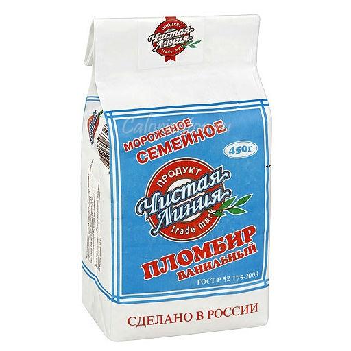 Мороженое Чистая Линия Cемейное пломбир ванильное