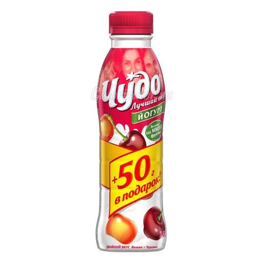 Йогурт Чудо Двойной вкус Вишня-Черешня