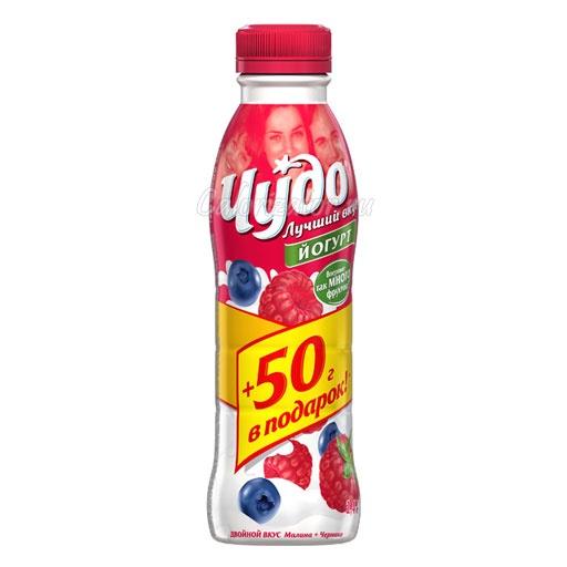 Йогурт Чудо Двойной вкус Малина-Черника