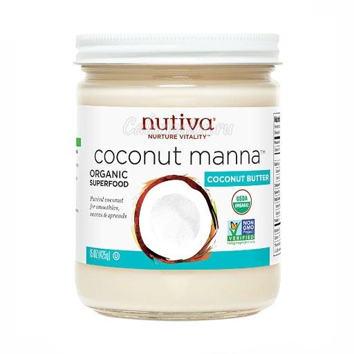 Кокосовая манна Nutiva органическая