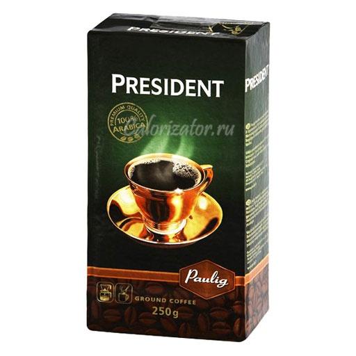 Кофе Президент молотый сухой