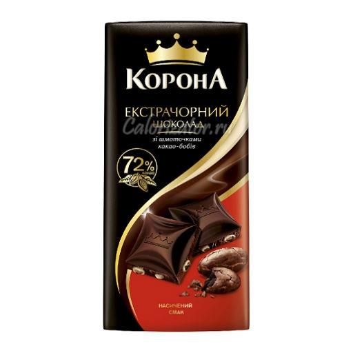 Шоколад Корона Экстра чёрный