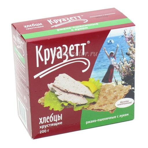 Хлебцы Круазетт ржано-пшеничные с луком