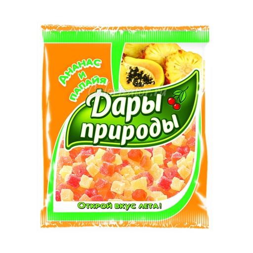 Цукаты (смесь кубиков ананаса и папайи)
