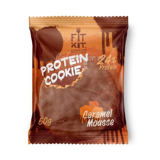 Печенье FITKIT Choco Protein Cookie Caramel Mousse (Карамельный Мусс)