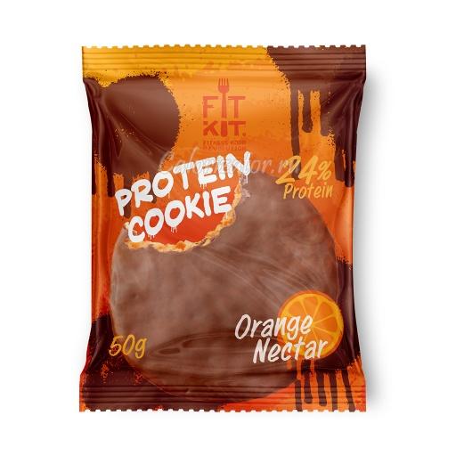Печенье FITKIT Choco Protein Cookie Orange Nectar (Апельсиновый Нектар)