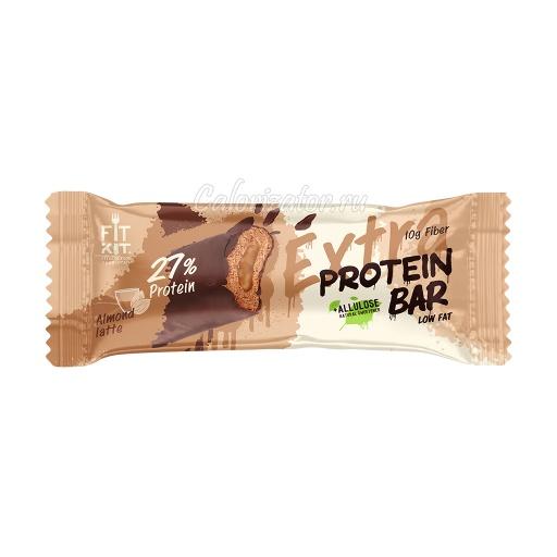 Батончик FITKIT Extra Protein Bar Almond Latte (Миндальный Латте)
