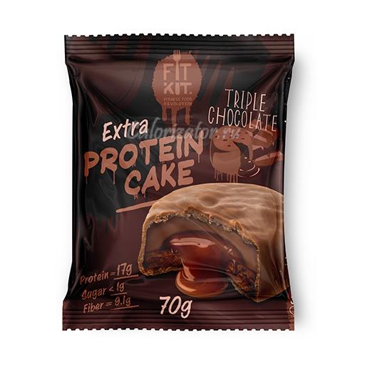Печенье FITKIT Extra Protein Cake Triple Chocolate (Тройной Шоколад)