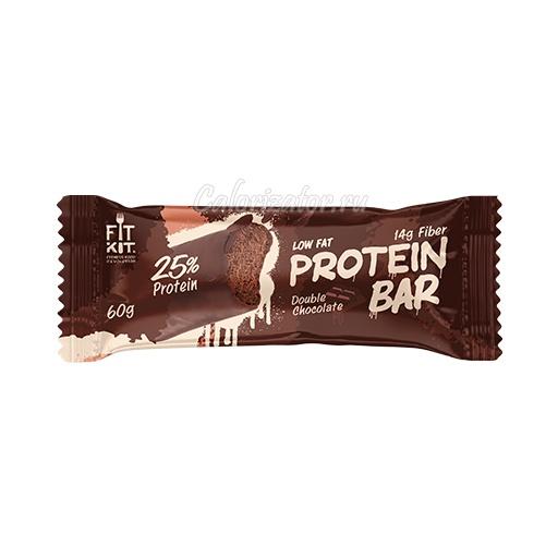 Батончик FITKIT Protein Bar Double Chocolate (Двойной Шоколад)
