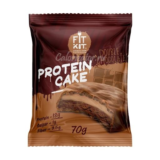 Печенье FITKIT Protein Cake Double Chocolate (Двойной Шоколад)