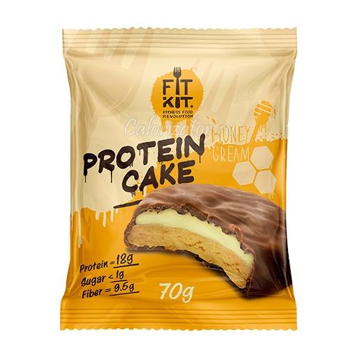 Печенье FITKIT Protein Cake Honey Cream (Медовый Крем)