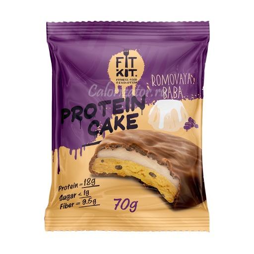 Печенье FITKIT Protein Cake Romovaya Baba (Ромовая Баба)