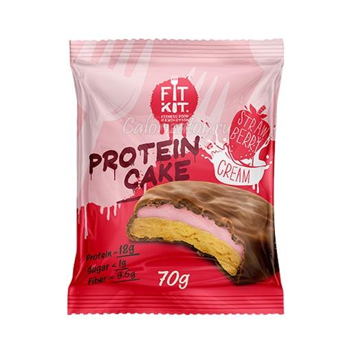 Печенье FITKIT Protein Cake Strawberry Cream (Клубничный Крем)