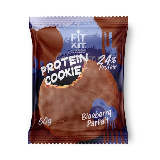 Печенье FITKIT Choco Protein Cookie Blueberry Parfait (Черничное Парфе)