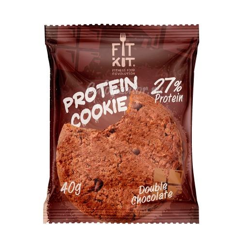 Печенье FITKIT Protein Cookie Double Chocolate (Двойной Шоколад)