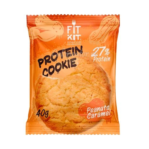 Печенье FITKIT Protein Cookie Peanuts Caramel (Арахис-Карамель)