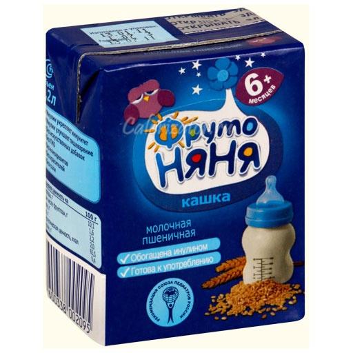 Пшеничная кашка ФрутоНяня молочная жидкая