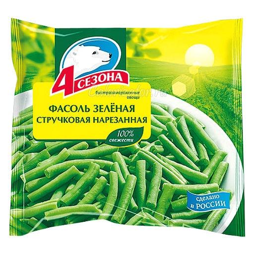 Фасоль 4 сезона зелёная стручковая нарезанная