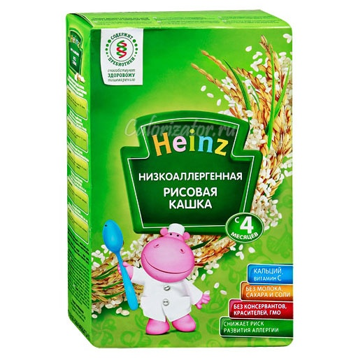 Рисовая кашка Heinz низкоаллергенная без молока