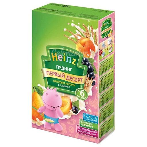 Пудинг Heinz фруктовое ассорти в сливках