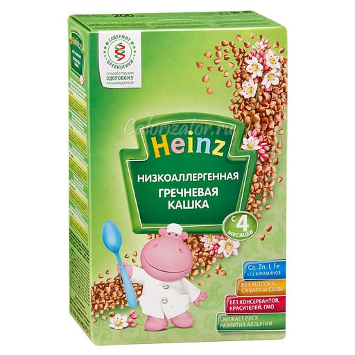 Гречневая кашка Heinz низкоаллергенная без молока
