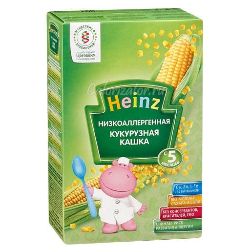 Кукурузная кашка Heinz низкоаллергенная без молока