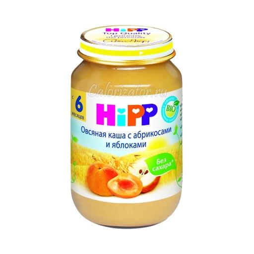 Овсяная каша Hipp с абрикосами и яблоками